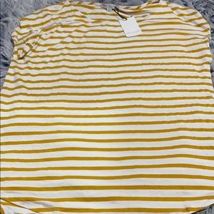 Yellow and white stripped short sleeve t shirt!!